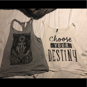 2 tank tops in good condition but worn